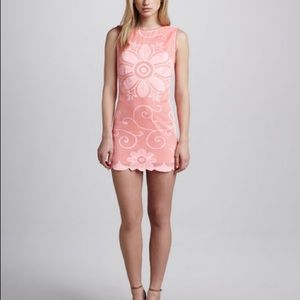 Free People Almost Famous lace Pink Mini Dress